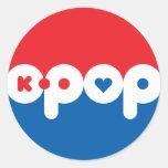 K-POP 01 ROUND STICKER