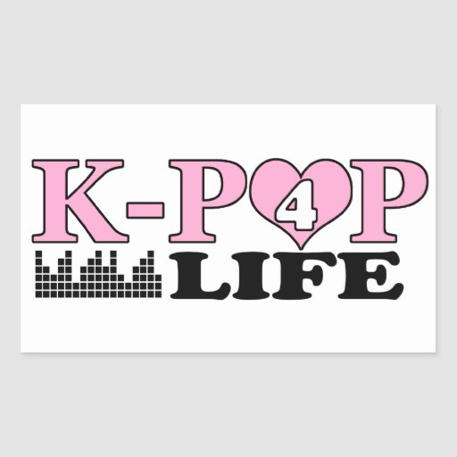 K-POP 4 LIFE RECTANGLE STICKERS