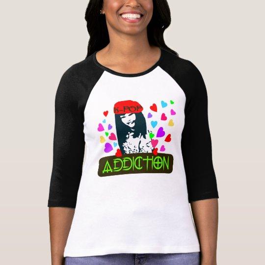 ╚»♪♥K-POP-Addiction 3/4 Sleeve Raglan (Fitted)♥♫«╝ T-Shirt