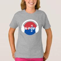 K-Pop Headphones Kpop Symbol Hand And Heart T-Shirt