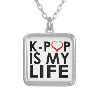 K-POP IS MY LIFE ♡ SILVER PLATED NECKLACE