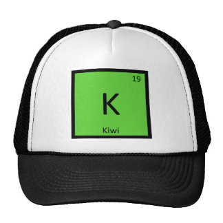 K - Símbolo de la tabla periódica de la química de Gorras De Camionero