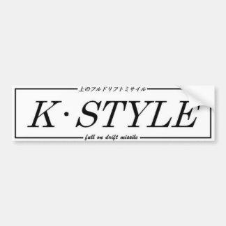K Style bumper interior sticker