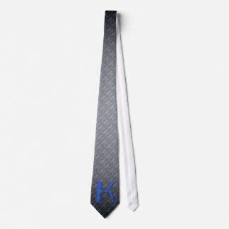 K - The Falck Alphabet (Blue) Tie