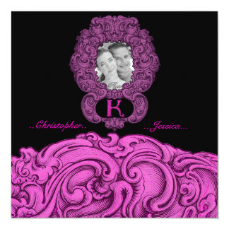 K - The Falck Alphabet (Pink) 5.25x5.25 Square Paper Invitation Card