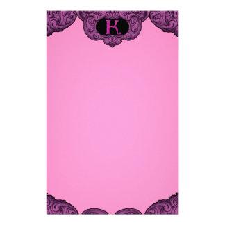 K - The Falck Alphabet (Pink) Stationery