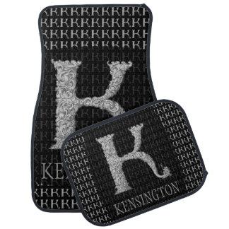 K - The Falck Alphabet (Silvery) Car Mat