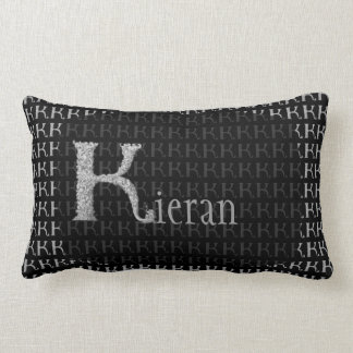 K - The Falck Alphabet (Silvery) Lumbar Pillow