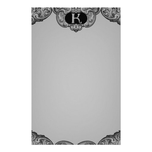 K - The Falck Alphabet (Silvery) Stationery Paper