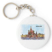 k towers of moscow keychain