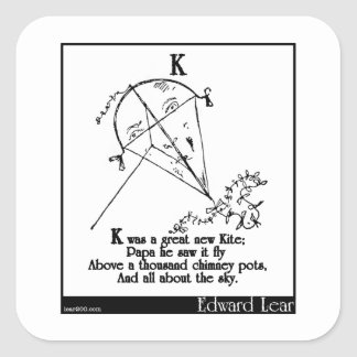 K was a great new Kite Square Sticker