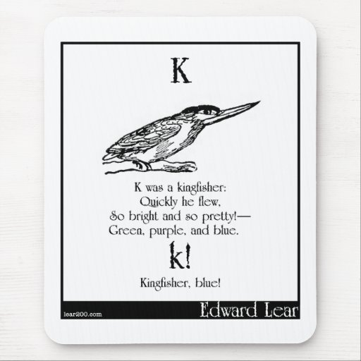 K was a kingfisher mouse pad