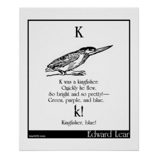 K was a kingfisher posters