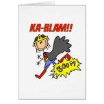 Ka Blam Girl Hero Greeting Card