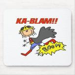 Ka Blam Girl Hero Mouse Pad