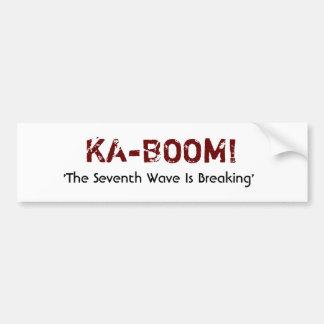 KA-BOOM CAR BUMPER STICKER