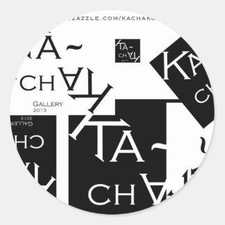 Ka-Chak Gallery LOGO Classic Round Sticker