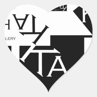 Ka-Chak Gallery LOGO Heart Sticker