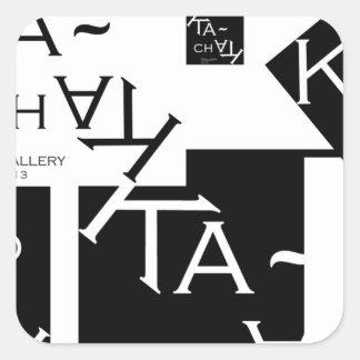 Ka-Chak Gallery LOGO Square Sticker
