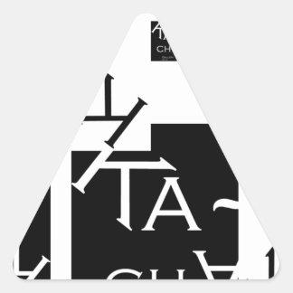 Ka-Chak Gallery LOGO Triangle Sticker