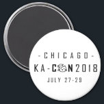 """KA-Con Magnet - Black Text<br><div class=""""desc"""">One of the official magnets of KA-Con 2018! This features the dark text logo for a light magnet background. You can customize this one to the color you like! All proceeds go to paying for the KA-Con venue,  with any leftover proceeds donated to Kitten Academy.</div>"""