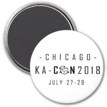 KA-Con Magnet - Black Text