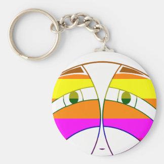KA Face 2  Rainbow Basic Round Button Keychain