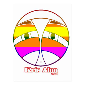 KA Face 2  Rainbow Postcard