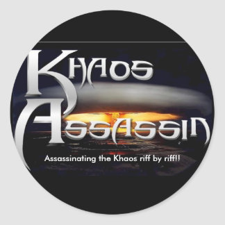 KA_LOGO_FINAL, Assassinating the Khaos riff by ... Classic Round Sticker