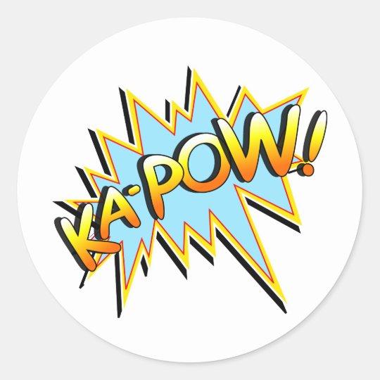 Ka-Pow Classic Round Sticker