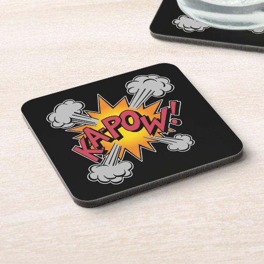 KA-POW! Comic Book Graphic Beverage Coaster