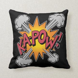 KA-POW! Comic Book Graphic Throw Pillow