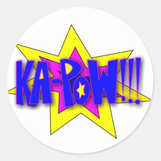 KA-PoW!!! Round Sticker