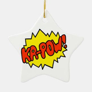 ¡'Ka-Prisionero de guerra cómico! ' Adorno Navideño De Cerámica En Forma De Estrella