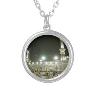 Kaaba Kaba Mecca Mecca Islam Allah Muslim Muslim Silver Plated Necklace