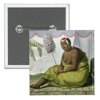 Ka'ahumanu, Queen of the Sandwich Islands Pinback Button