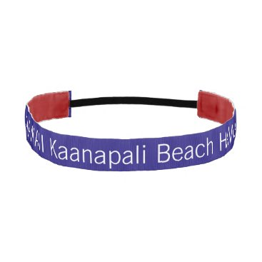 Beach Themed Kaanapali Beach HAWAII funny customizable Athletic Headband