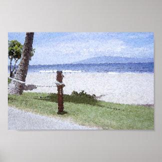 Kaanapali Beach, Maui, Hawaii Print