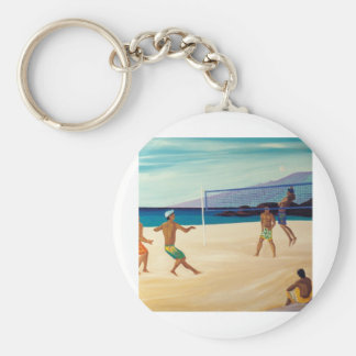Kaanapali Beach Volleyball Keychain