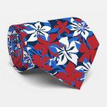 Kaanapali Camo Hawaiian Hibiscus Tie
