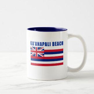 KA'ANAPALI Hawaii Beach Tshirts, Gifts Two-Tone Coffee Mug