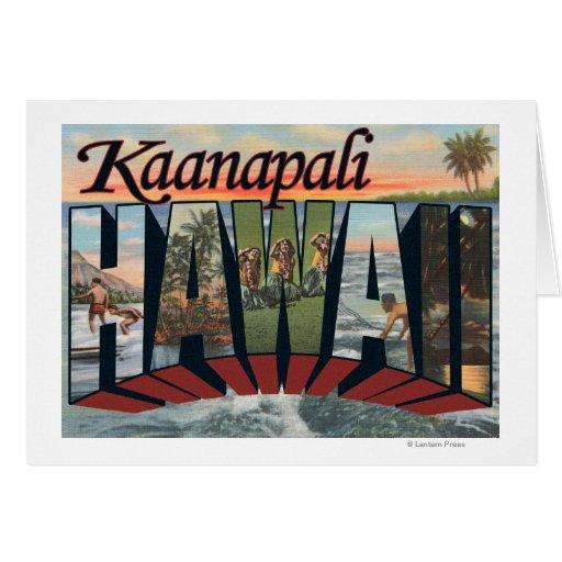 Kaanapali, Hawaii - Large Letter Scenes Card