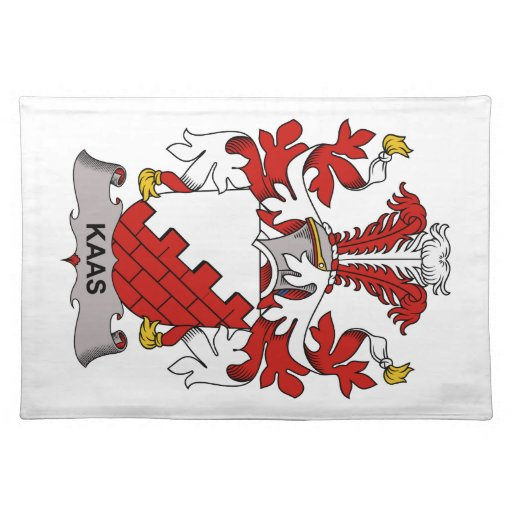 Kaas Family Crest Cloth Placemat