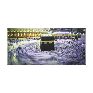 Ka'bah at night gallery wrapped canvas