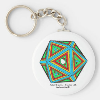 Kabai Graphics - Created with Mathematica(R) Basic Round Button Keychain