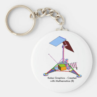 Kabai Graphics - Created with Mathematica (R) Basic Round Button Keychain