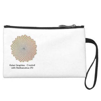 Kabai Graphics - Created with Mathematica (R) Suede Wristlet