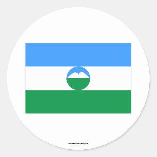 Kabardino-Balkar Republic Flag Classic Round Sticker