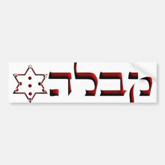 Kabbalah Car Bumper Sticker