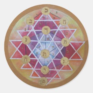 Kabbalah Classic Round Sticker